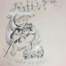 Arte: ROSER MUNTAÑOLA, TÉCNICA MIXTA, 40X50 CMS. CATALOGADA. Lote 151875082
