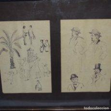 Arte: DOS DIBUJOS DE GRAN CALIDAD.ANONIMOS.. Lote 151985798