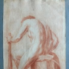 Arte: DIBUJO ANTIGUO SANGUINA SIGLO XVIII. Lote 152087302