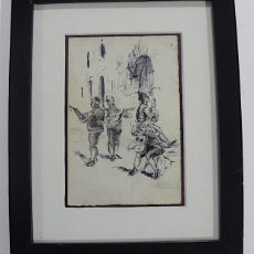 Arte: M. LAHOZ, DIBUJO TINTA Y LAPICERO, BATURROS. Lote 152174714