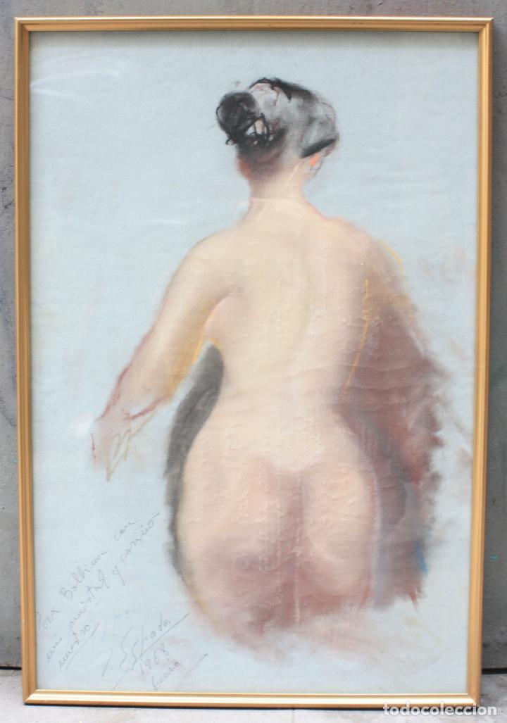 DESNUDO FEMENINO, 1968, DIBUJO AL CARBONCILLO, FIRMA ILEGIBLE. 62X42CM (Arte - Dibujos - Contemporáneos siglo XX)