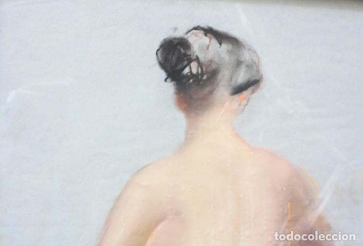 Arte: Desnudo femenino, 1968, dibujo al carboncillo, firma ilegible. 62x42cm - Foto 3 - 152259786