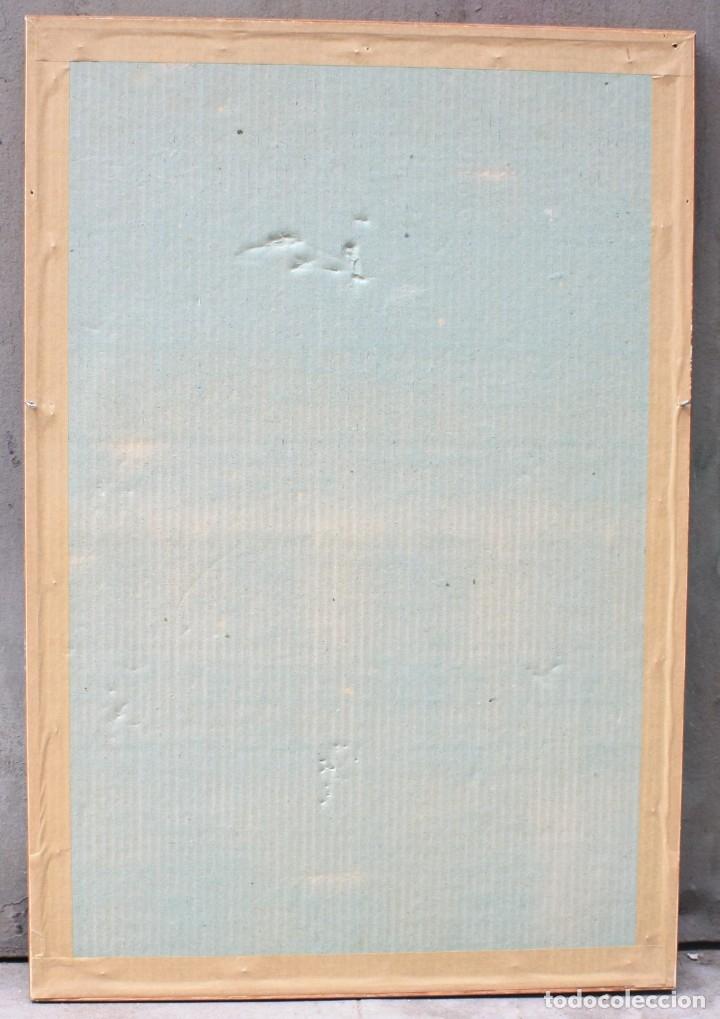 Arte: Desnudo femenino, 1968, dibujo al carboncillo, firma ilegible. 62x42cm - Foto 5 - 152259786