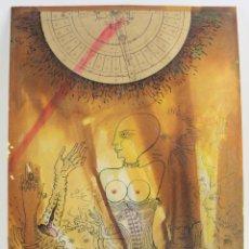 Arte: JOAN VILA MONCAU, COMPOSICIÓN, 1960'S, DIBUJO TÉCNICA MIXTA Y COLLAGE, MUJER CON CORSÉ, SURREALISMO.. Lote 152326006