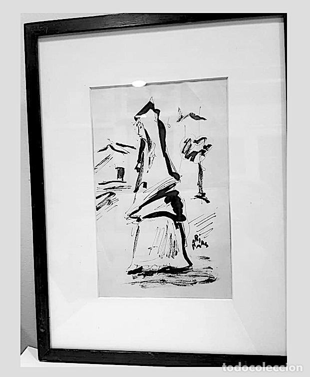 ARIAS, DIBUJO TINTA FIRMADO (Arte - Dibujos - Contemporáneos siglo XX)