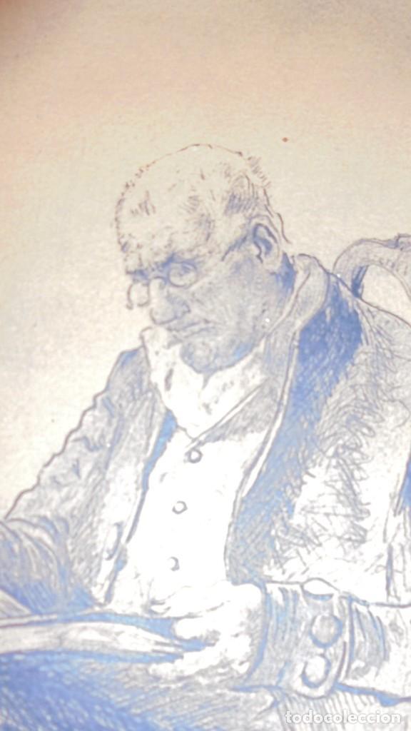 Arte: DIBUJO A PLUMILLA FIRMADO J.Z.ARANDA SEVILLA NOVI. 1879 ENMARCADO DIBUJO 26X20 CM. - Foto 4 - 152448870