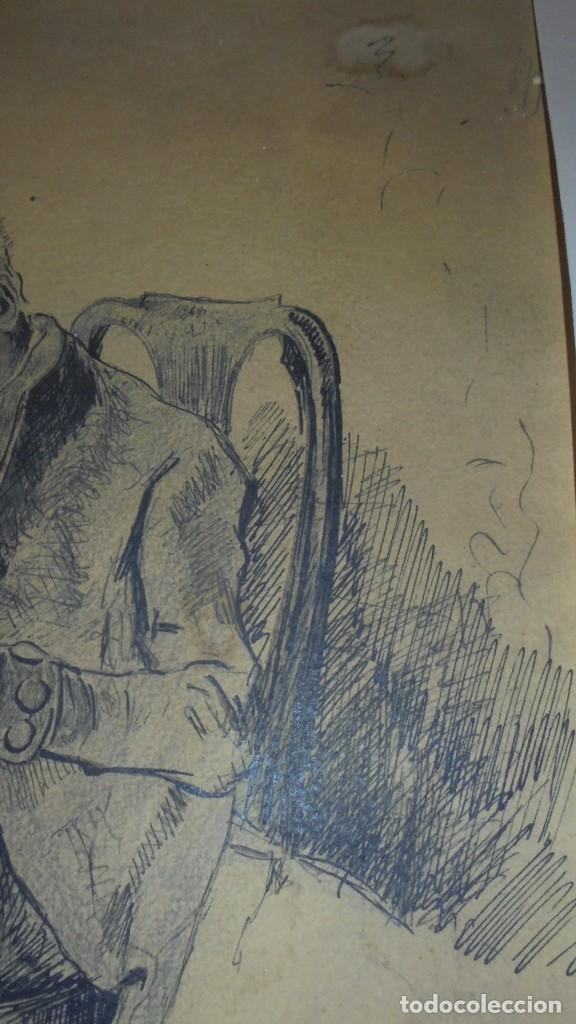 Arte: DIBUJO A PLUMILLA FIRMADO J.Z.ARANDA SEVILLA NOVI. 1879 ENMARCADO DIBUJO 26X20 CM. - Foto 5 - 152448870