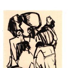 Arte: DIBUJO ORIGINAL EN TINTA CHINA DEL ARTISTA BILBAINO BARCELÓ. CIRCA 1970. Lote 152760168