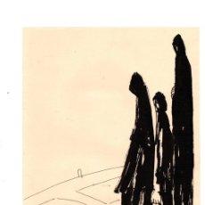 Arte: DIBUJO ORIGINAL EN TINTA CHINA DEL ARTISTA BILBAINO BARCELÓ. CIRCA 1970. Lote 152760414
