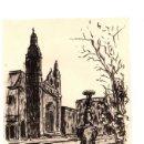 Arte: DIBUJO ORIGINAL EN TINTA CHINA BILBAO. UTILIZADO PARA ILUSTRAR EL COFRE DEL BILBAINO. AÑO 1961. Lote 152760793
