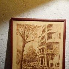 Arte: ANTIGUO DIBUJO FIRMADO POR EL PINTOR FIDEL LÓPEZ SALVADOR LA PEDRERA BARCELONA AÑO 1991. Lote 152805902