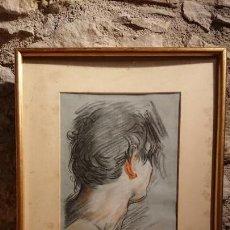 Arte: ANTIGUO DIBUJO DEL PINTOR SABATÉ AÑO 1983 REALIZADO AL CARBONCILLO REPRESENTA AL PINTOR BAROCCI. Lote 152836038