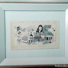 Arte: BOADA, PEDRO, ILUSTRACIÓN ORIGINAL 1972. Lote 123357111