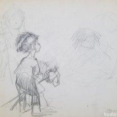 Arte: MANUEL MONEDERO (SEVILLA1925-2002), PRECIOSO DIBUJO DE NIÑOS FIRMADO.. Lote 153082845