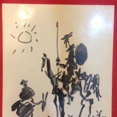 Arte: DON QUIJOTE Y SANCHO. PICASSO 1955. Lote 153102142