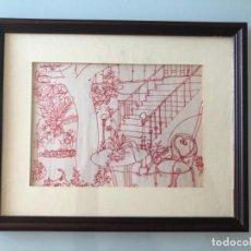 Arte: DIBUJO ORIGINAL FIRMADO AGUILAR MORE 1976, 27X21 CM. Lote 128881487