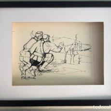 Arte: DIBUJO ORIGINAL DE ROSER MUNTAÑOLA, CATALOGADO Y FIRMADO,40X30 CMS. Lote 108014099