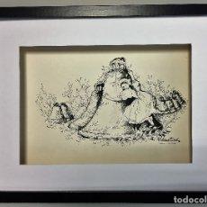 Arte: DIBUJO ORIGINAL DE ROSER MUNTAÑOLA, FIRMADO Y CATALOGADO,40X30CMS.. Lote 108014539