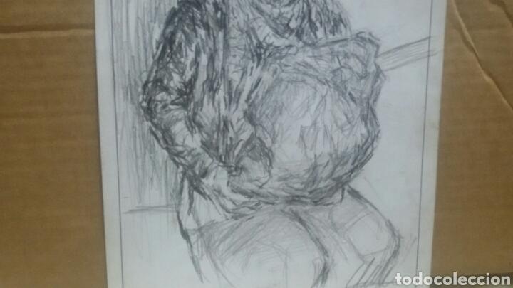 Arte: Dibujo original Chica con bolsa original - Foto 3 - 153595508