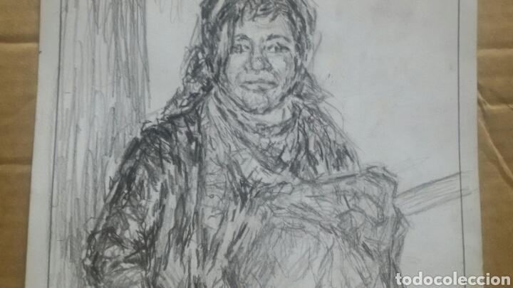 Arte: Dibujo original Chica con bolsa original - Foto 4 - 153595508