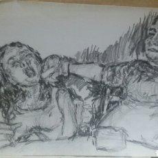 Arte: DIBUJO ORIGINAL LA SEPARACIÓN. Lote 153596797