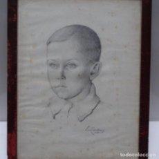 Arte: ANTIGUO DIBUJO DE VILA CAÑELLAS DE 1938.RETRATO DE NIÑO.. Lote 153744930
