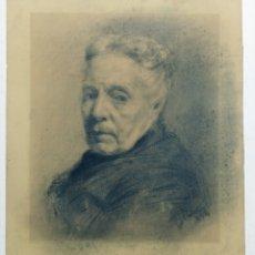 Arte: FANTÁSTICO DIBUJO AL CARBÓN. FIRMADO LLOBET 1894. Lote 133477342