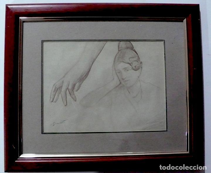 ENRIQUE SIMONET LOMBARDO, DIBUJO LAPICERO FIRMADO (Arte - Dibujos - Contemporáneos siglo XX)