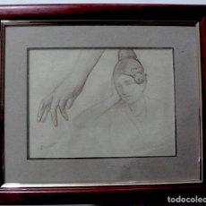 Arte: ENRIQUE SIMONET LOMBARDO, DIBUJO LAPICERO FIRMADO. Lote 154013434