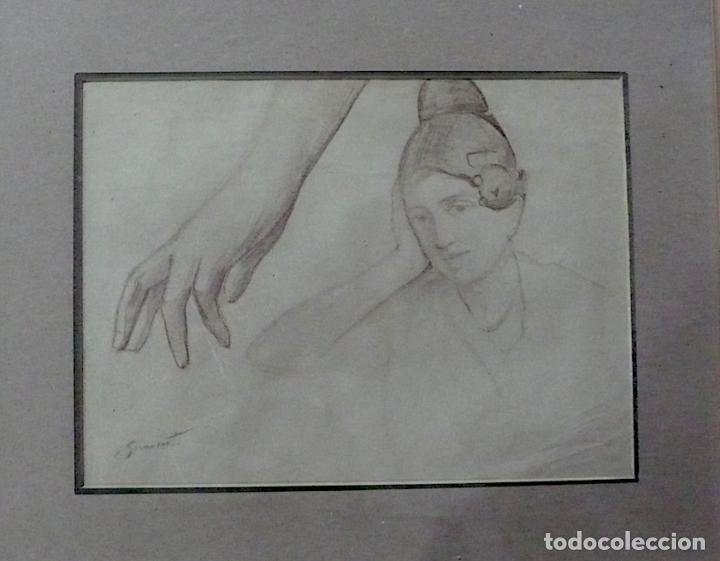 Arte: ENRIQUE SIMONET LOMBARDO, DIBUJO LAPICERO FIRMADO - Foto 2 - 154013434