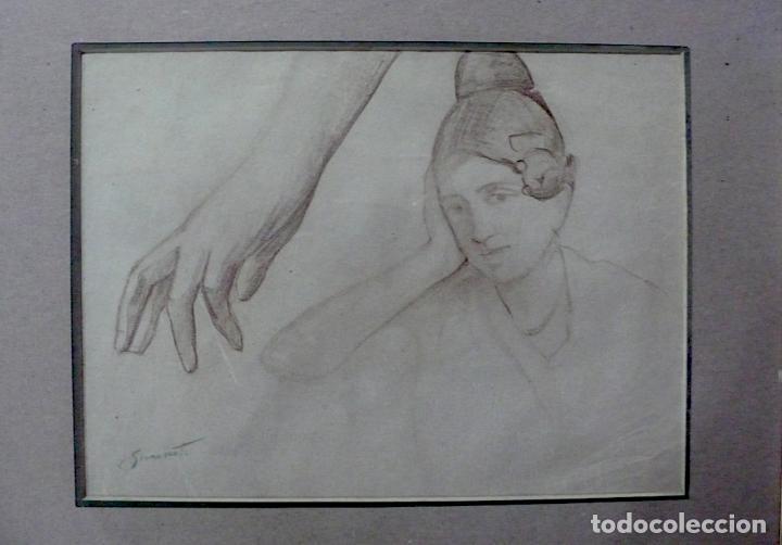 Arte: ENRIQUE SIMONET LOMBARDO, DIBUJO LAPICERO FIRMADO - Foto 3 - 154013434