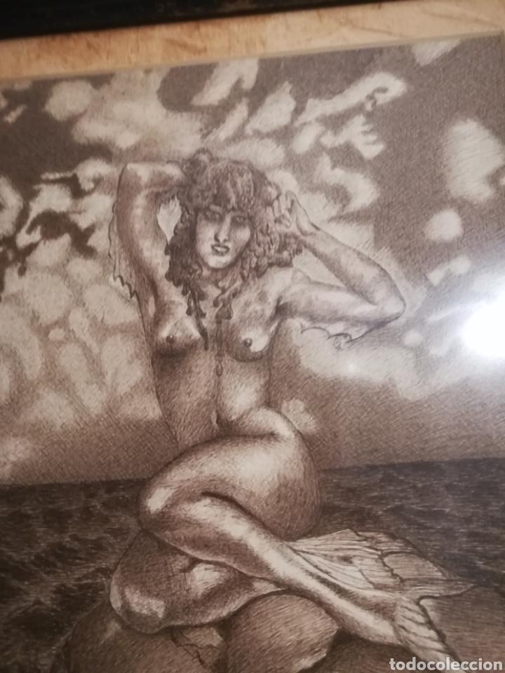 Arte: Cuadro con sirena de mar. - Foto 2 - 154017636