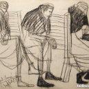 Arte: JORDI CUROS CERAS/PAPEL 50 X 36 CM. FIRMADO Y FECHADO ABRIL 1956.. Lote 154034170