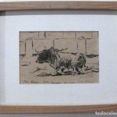Arte: SAAVEDRA, DIBUJO TAURINO TINTA. Lote 154120986