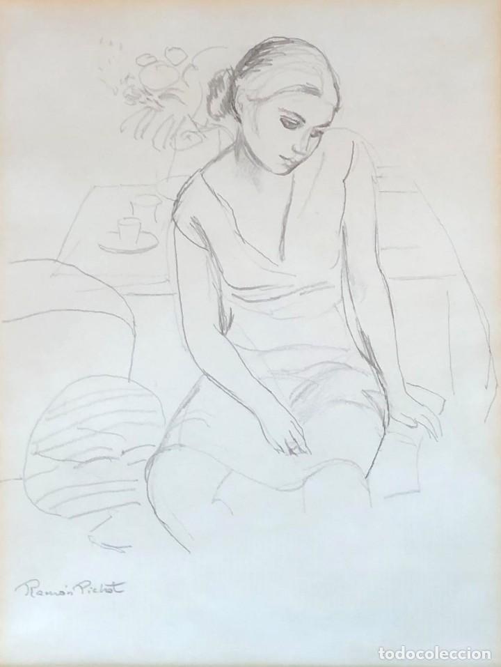 RAMÓN PICHOT SOLER (1924-1987) - FIGURA (Arte - Dibujos - Contemporáneos siglo XX)