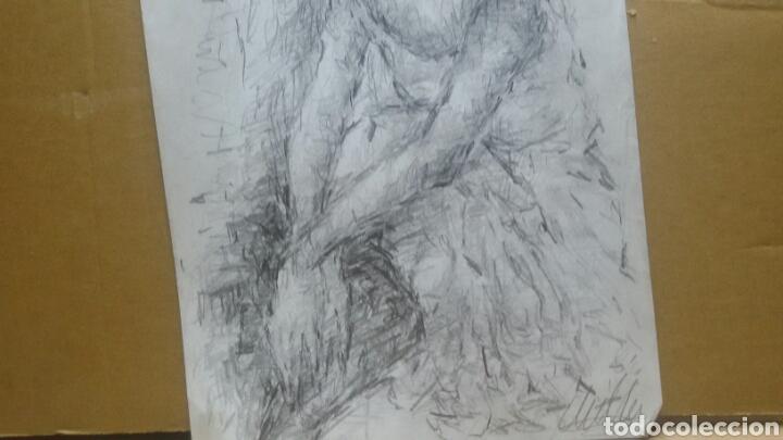 Arte: Dibujo chica en reposo original - Foto 2 - 154347622