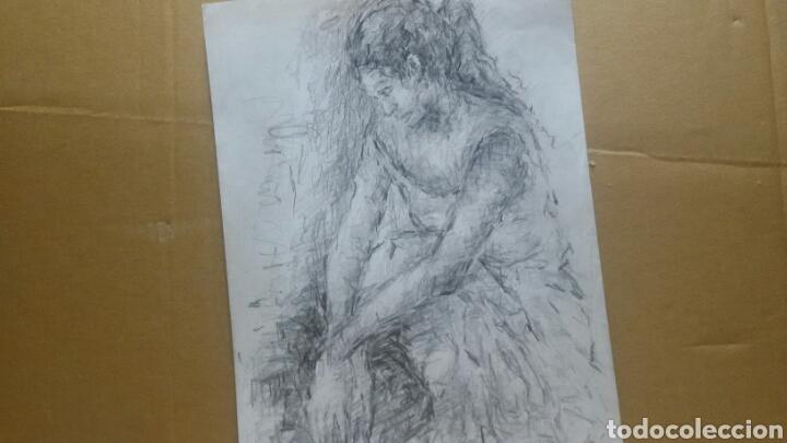 Arte: Dibujo chica en reposo original - Foto 3 - 154347622