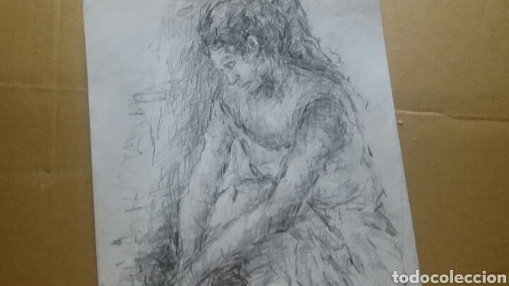 Arte: Dibujo chica en reposo original - Foto 4 - 154347622