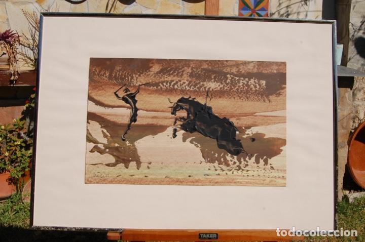Arte: Firma desconocida. Técnica mixta pastel y óleo de 46x29 enmarcada sin cristal en 50,5x70. Año 77. - Foto 2 - 154401906