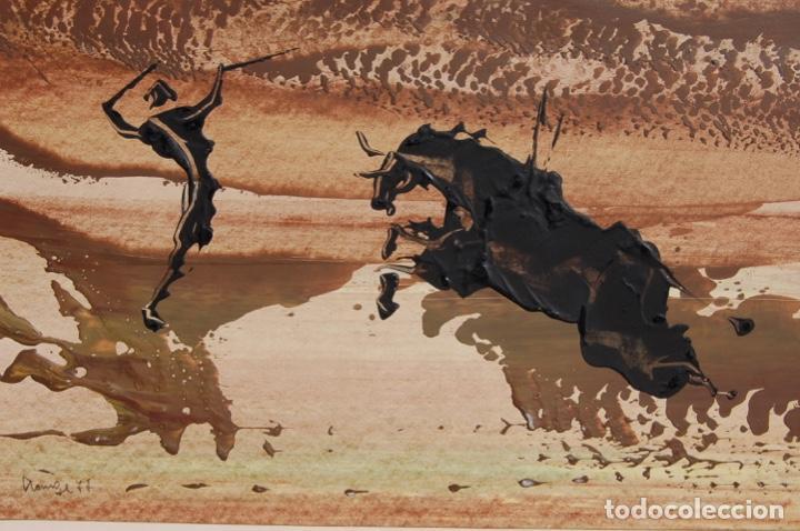 Arte: Firma desconocida. Técnica mixta pastel y óleo de 46x29 enmarcada sin cristal en 50,5x70. Año 77. - Foto 7 - 154401906