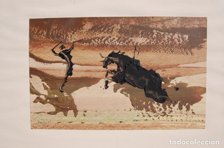 Arte: Firma desconocida. Técnica mixta pastel y óleo de 46x29 enmarcada sin cristal en 50,5x70. Año 77. - Foto 8 - 154401906