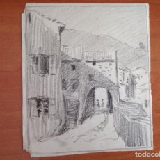 Arte: ESCUELA ESPAÑOLA S.XIX-XX. UNA CALLE.. Lote 154467926