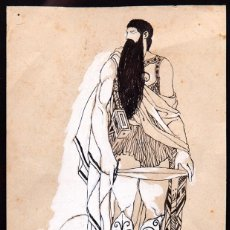 Arte: JOSEP OBIOLS - ORIGINAL A TINTA. Lote 154543458
