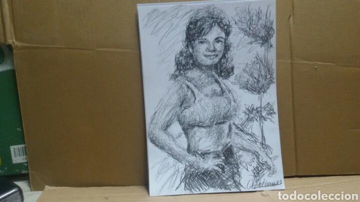 Arte: Dibujo retrato original Down Wells 1964(original ) - Foto 4 - 154572370