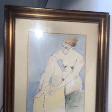 Arte: XAVIER BLANCH, TECNICA MIXTA SOBRE PAPEL.. Lote 154795658