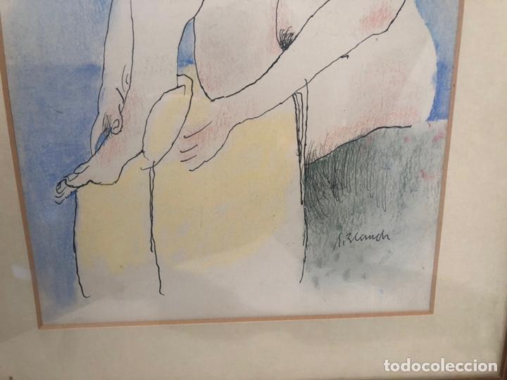 Arte: XAVIER BLANCH, TECNICA MIXTA SOBRE PAPEL. - Foto 4 - 154795658