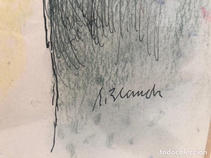 Arte: XAVIER BLANCH, TECNICA MIXTA SOBRE PAPEL. - Foto 5 - 154795658