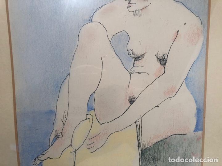 Arte: XAVIER BLANCH, TECNICA MIXTA SOBRE PAPEL. - Foto 3 - 154795658