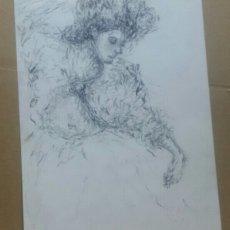 Arte: DIBUJO CHICA CON ARTE. Lote 154875914