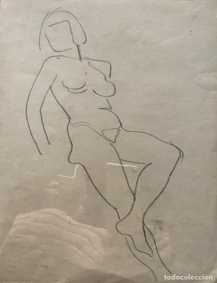 FLOTATS. ORIGINAL A LÁPIZ 20,9X26,8 CM (Arte - Dibujos - Contemporáneos siglo XX)